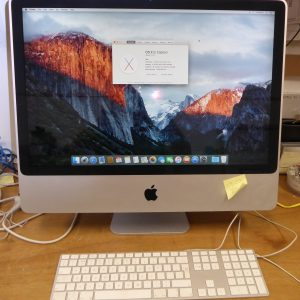 All-in-one 24″ (2007) Intel Apple iMac. 2.8GHz C2D.
